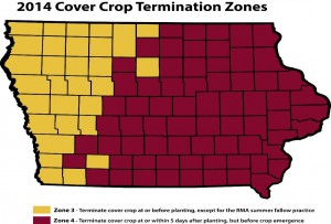 cover crop termination zones 2014