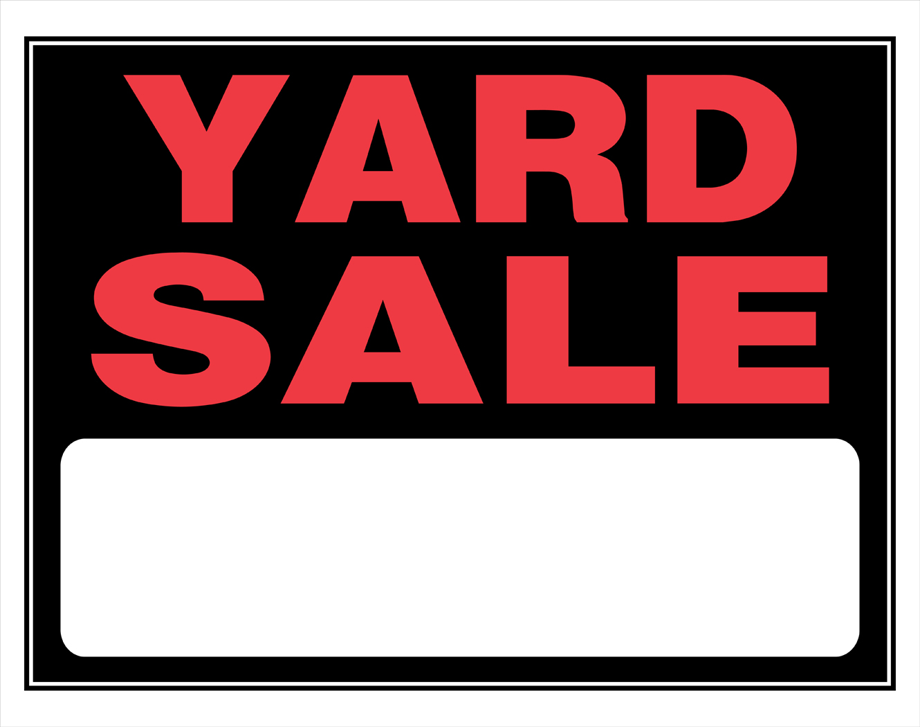 Clip Art For Yard Sale Signs