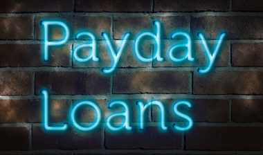 """Neon sign """"payday loans"""""""
