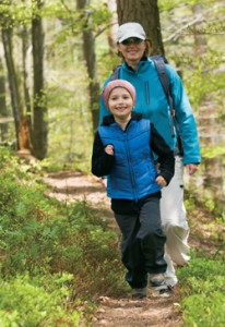 Kid and Parent Hiking