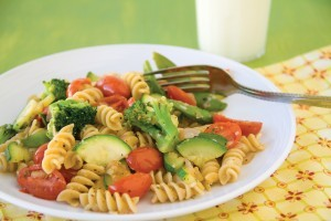 Cheesy Pasta & Summer Veggies