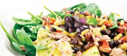 spinach black bean salad