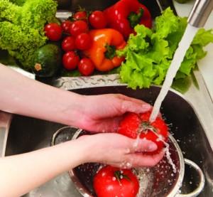 wash produce