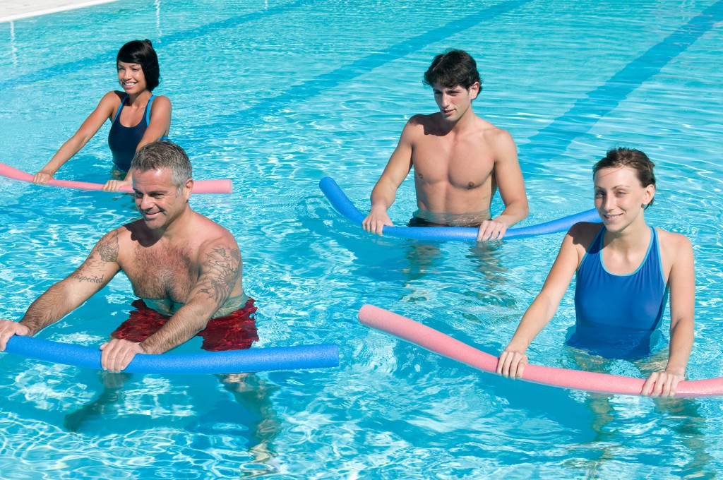 fitness active pool water workout