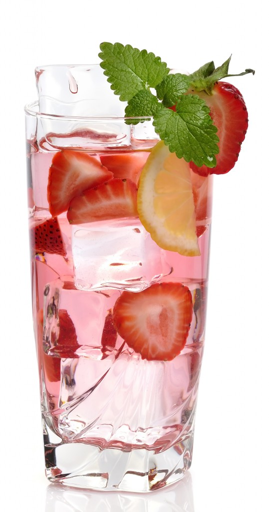fruit water strawberry lemon drinks