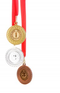 gold silver bronze medal
