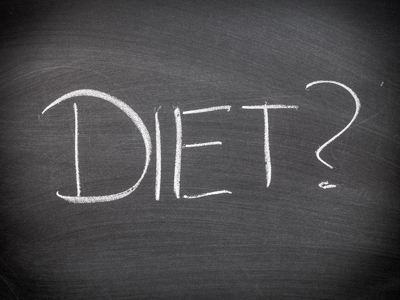 diet on chalkboard