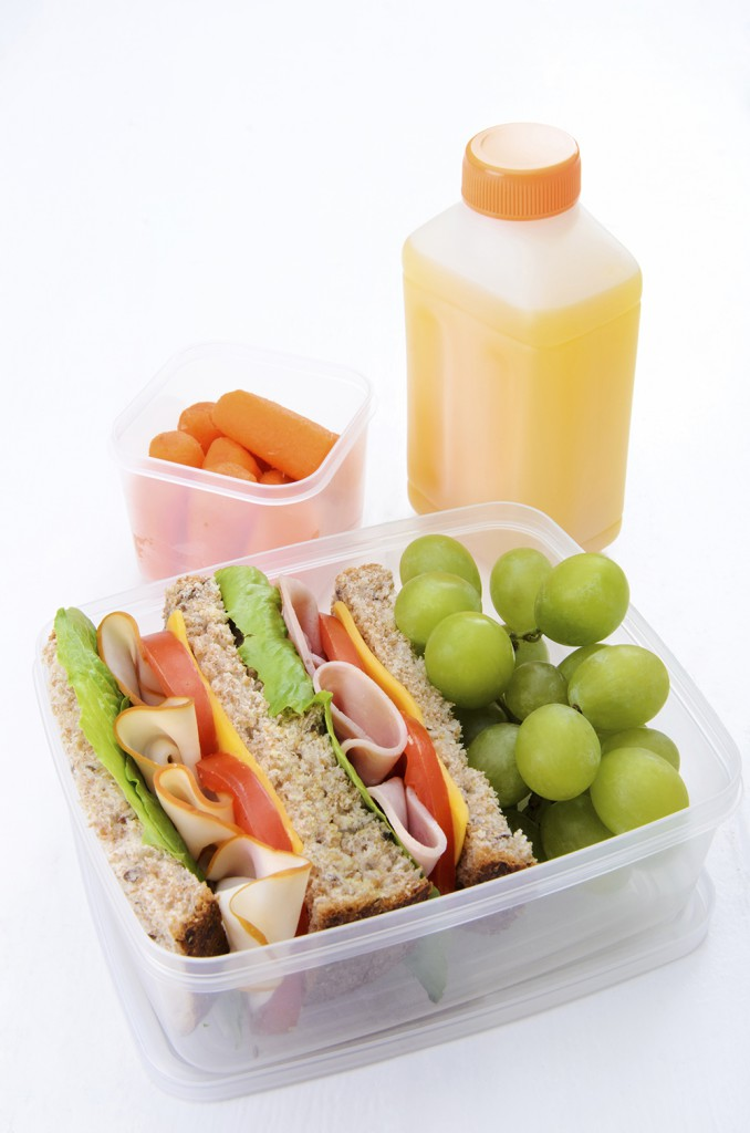 packed lunch sandwich healthy