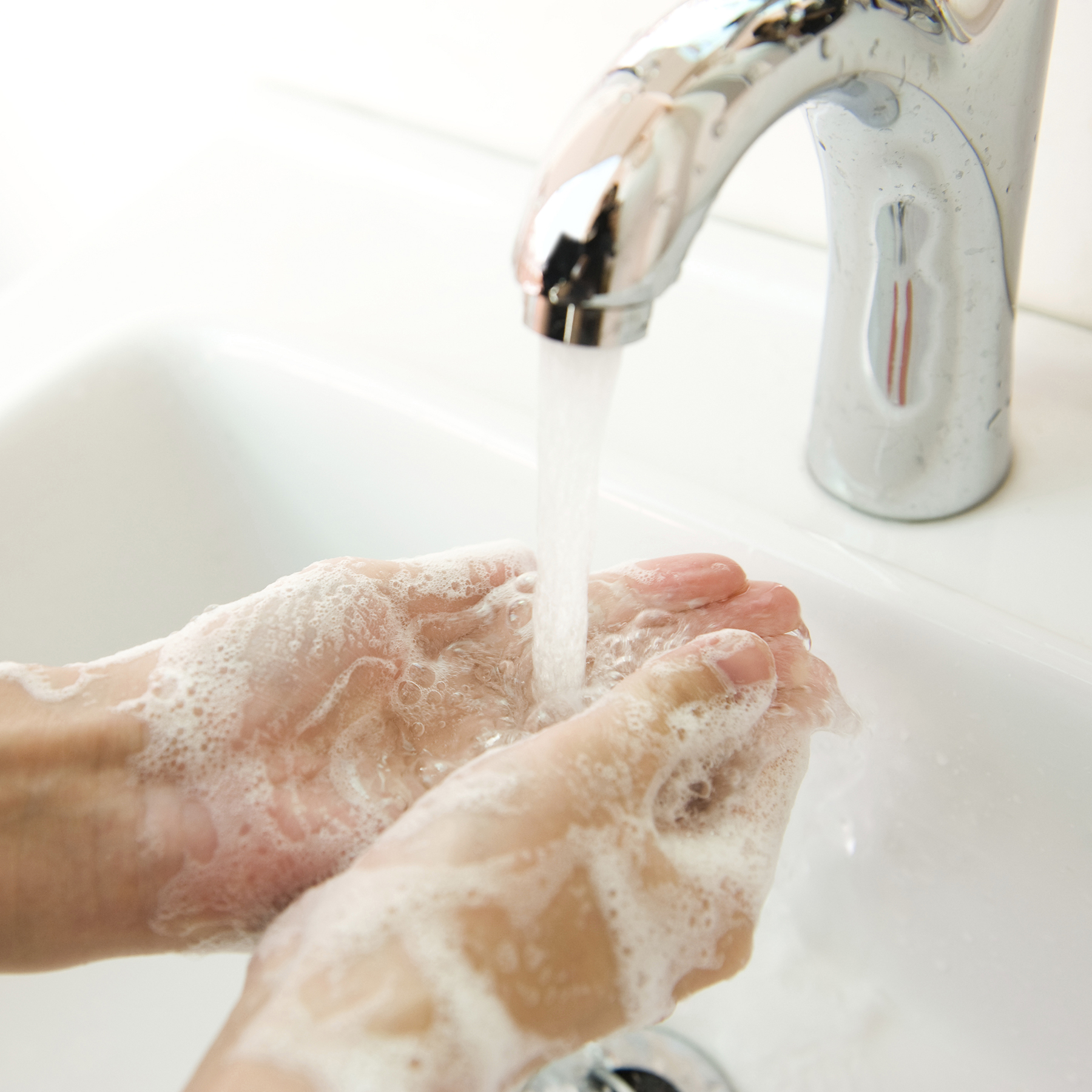 Use Of Hand Gels Washing Hands Soap Water