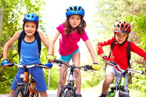 young kids bike summer active fitness