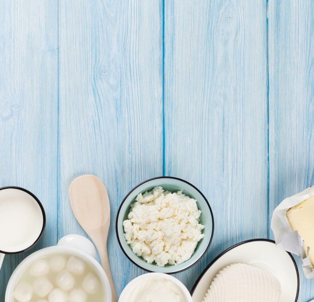 Sour cream, milk, cheese, yogurt and butter
