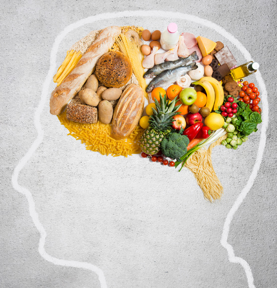 Brain filled with good food