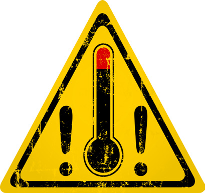 Temperature warning sign
