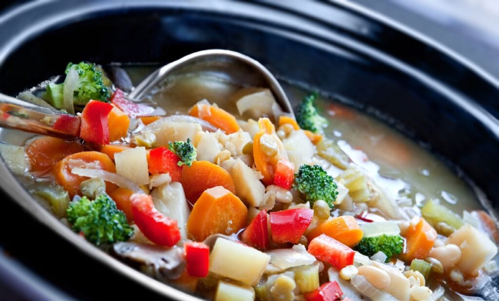 Pot of vegetable stew
