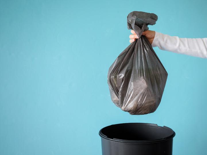 Trash and trash can